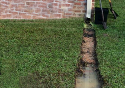 overflow from gutters can cause erosion in your yard